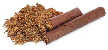 stash: Marijuana as cigar over white background Stock Photo