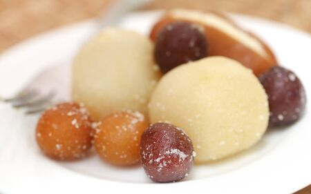 gulab: Popular Bangladeshi sweetmeats in a plate Stock Photo