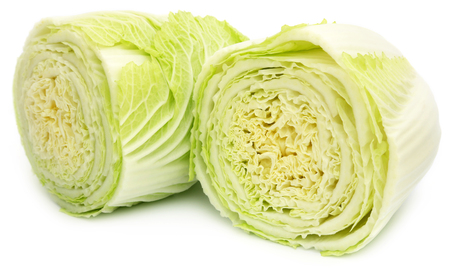 over white background: Chinese cabbage over white background