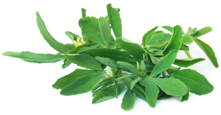 Fenugreek leaves in a mortar with pestle