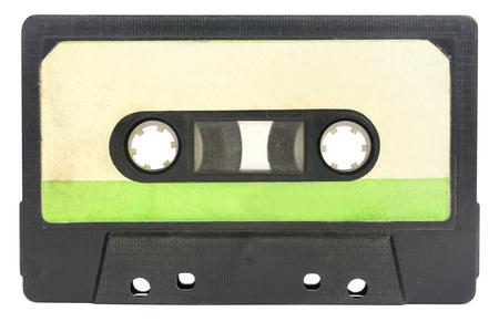 Vieille cassette sur fond blanc Banque d'images