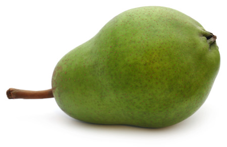 Fresh pear over white background