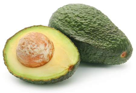 Fresh avocado isolated over white background