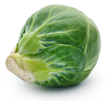 Rosenkohl or Brussels sprout isolated over white background