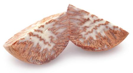 Betel nut over white background Stock Photo