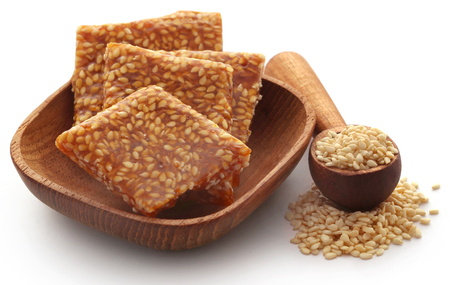 Sesame caramel candy very popular in Indian subcontinent Stock Photo