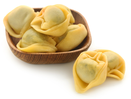 Italian Tortelloni made of spinach and flour