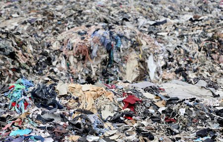 Textile waste a major polluter in Southeast Asian countries like Bangladesh 스톡 콘텐츠
