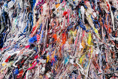 Textile waste a major polluter in Southeast Asian countries like Bangladesh Banco de Imagens