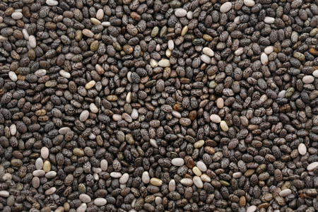 Organic Chia Seed, super food as background Stock Photo