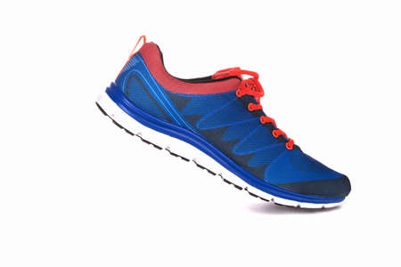 sneakers: Unbranded running shoe, sneaker or trainer isolated on white