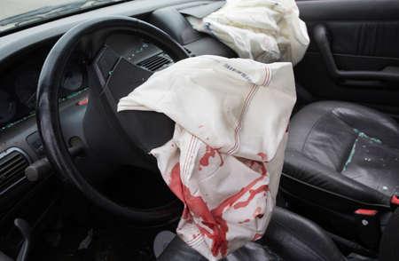 car accident: Car Crash air bag
