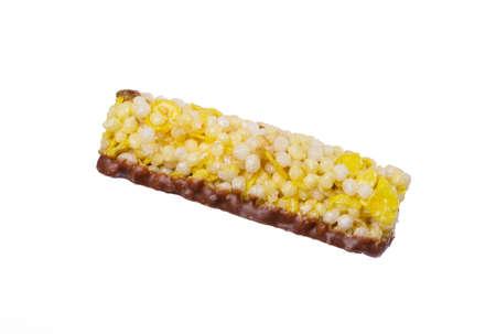 barra de cereal: Barra de cereal con el chocolate