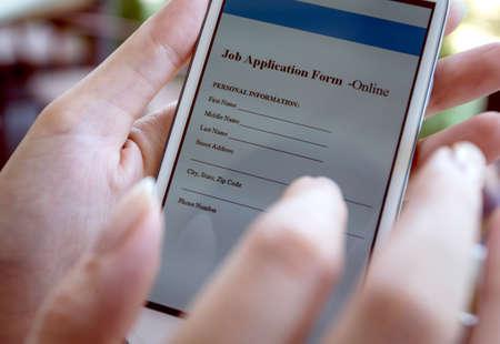 online form: job application form online