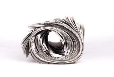 old newspaper: Rolled Newspaper