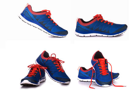 unbranded: Unbranded running shoe, sneaker or trainer isolated on white