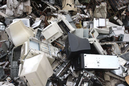 electrical parts: computer electronic and office parts for  recycling Stock Photo