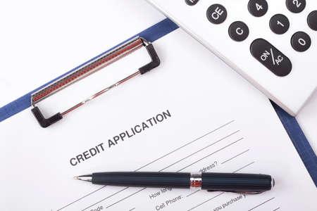 business credit application: Credit application form