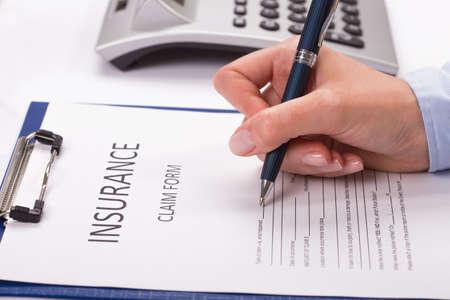 insurance themes: Insurance claim forme Stock Photo