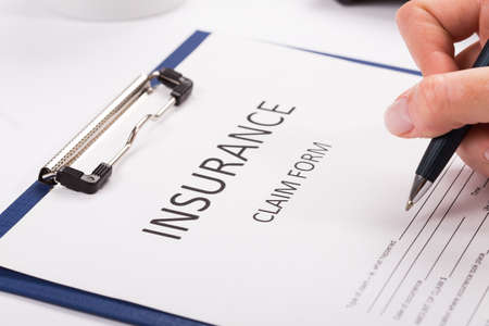 insurance themes: Insurance claim forme Stock Photo