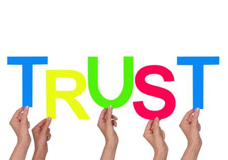 trust: Word Trust Stock Photo