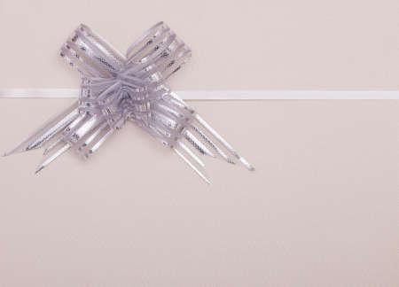 silver ribbon: Silver ribbon gift