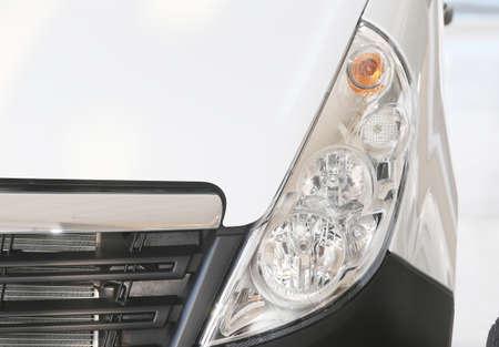 headlight: Closeup truck headlight