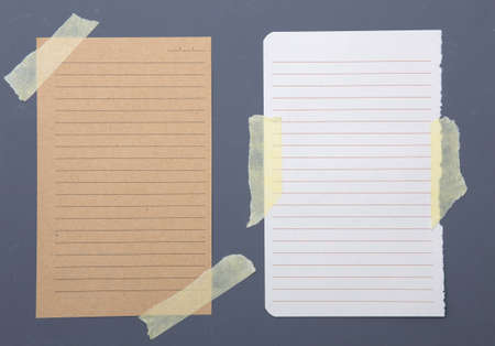 note paper: Set of different blank note papers