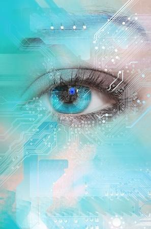 digital signal: High-tech technology background