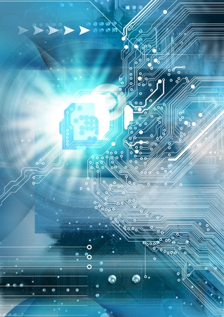 network security: High technology background  Stock Photo