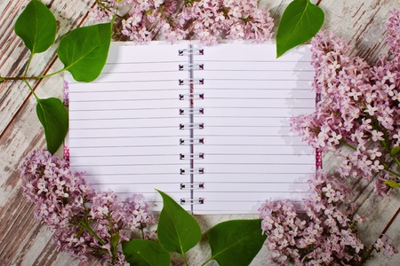 Open blank notebook ready to write