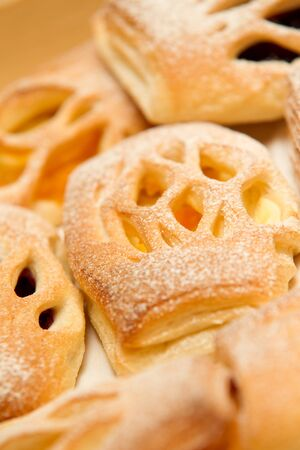 Sweet bread with powdered sugar