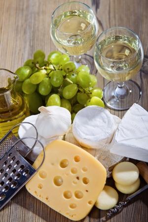 queso blanco: Vino blanco y la composici�n de queso