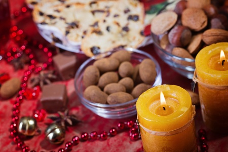 Beautiful place setting for Christmas  Stock Photo