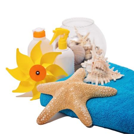 Summer beach concept  Stock Photo