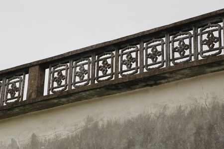 buliding: Old chinese buliding and the railing