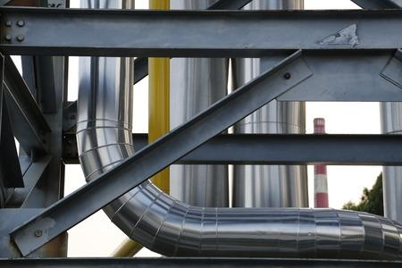 petrochemie industrie: Petrochemische industrie gebied Stockfoto