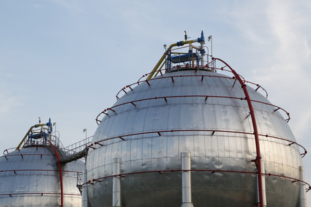 petrochemical: Petrochemical industry area Stock Photo