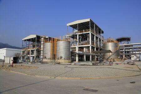 petrochemie industrie: Petrochemische industrie gebied Redactioneel