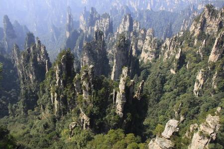 장가계 국가 지질 공원 자연 경관