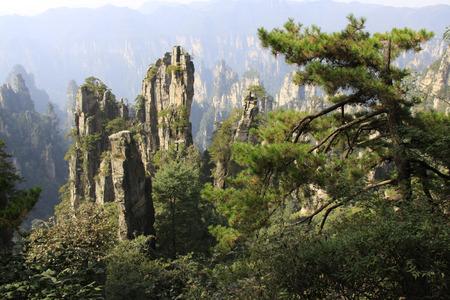 장가계 국가 지질 공원 자연 풍경