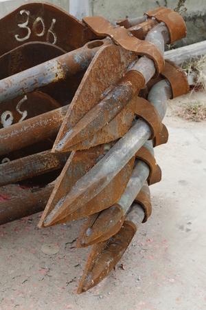 unsanitary: Rusty anchor Stock Photo