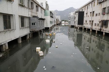 수질 오염 스톡 콘텐츠
