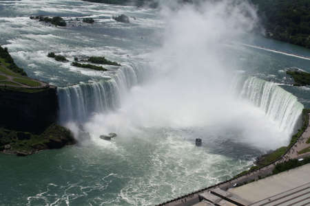 Overlook of niagra falls in canada looking down photo