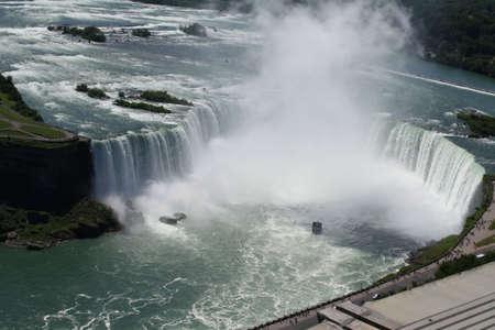 overlook: Overlook of niagra falls in canada looking down Stock Photo