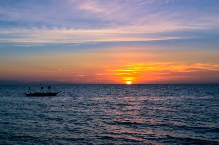 Stunning sunset over San Remigio, Cebu, Philippines