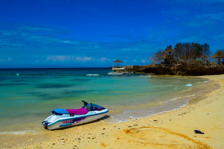 The beautiful sandy beaches of Camotes Island, Philippines