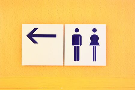 Sign of public toilets WC  photo