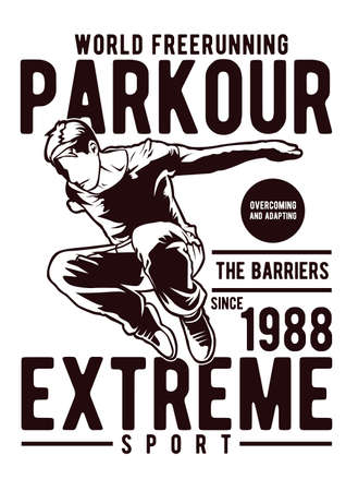 Parkour vector illustration
