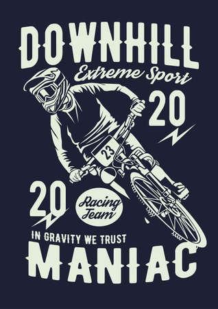 Downhill bike vector illustration